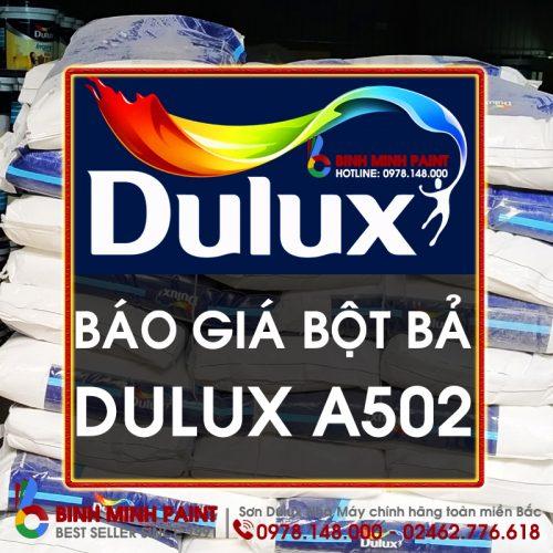 Báo Giá Bột Bả Dulux A502 Mới Nhất Năm 2020 Bình Minh Hà Nội