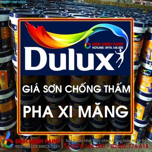 Báo Giá Sơn Chống Thấm Dulux Pha Xi Măng Mới Nhất Năm 2020 Bình Minh Hà Nội