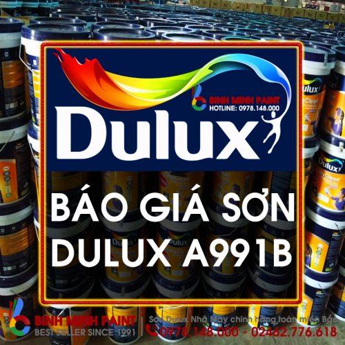 Báo Giá Sơn Dulux Lau Chùi Bóng - A991B Mới Nhất Năm 2020