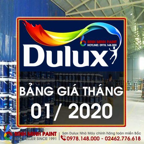 Bảng Báo Giá Sơn Dulux Tháng 1 Năm 2020 Bình Minh Hà Nội