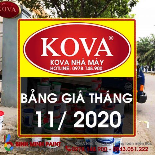 Bảng Báo Giá Sơn KOVA Tháng 11 Năm 2020
