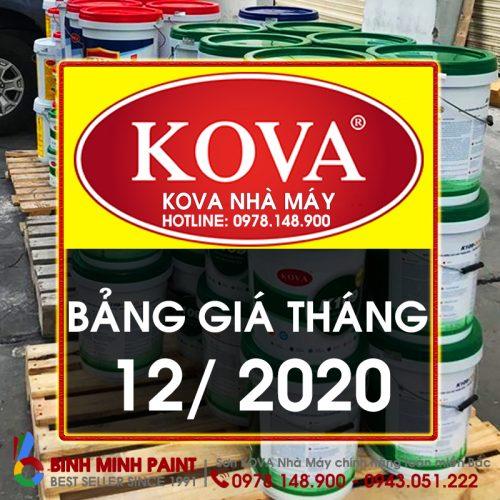 Bảng Báo Giá Sơn KOVA Tháng 12 Năm 2020