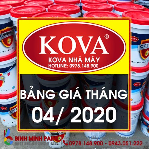 Bảng Báo Giá Sơn KOVA Tháng 4 Năm 2020