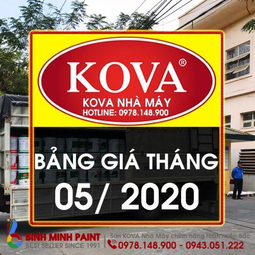 Bảng Báo Giá Sơn KOVA Tháng 5 Năm 2020