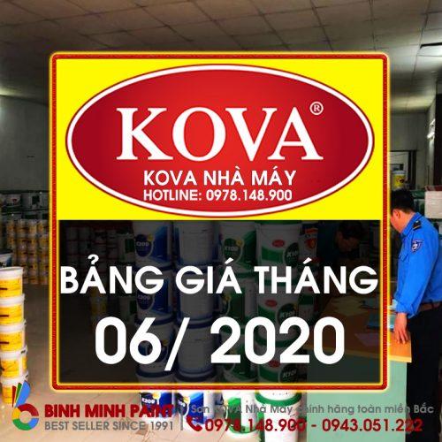 Bảng Báo Giá Sơn KOVA Tháng 6 Năm 2020