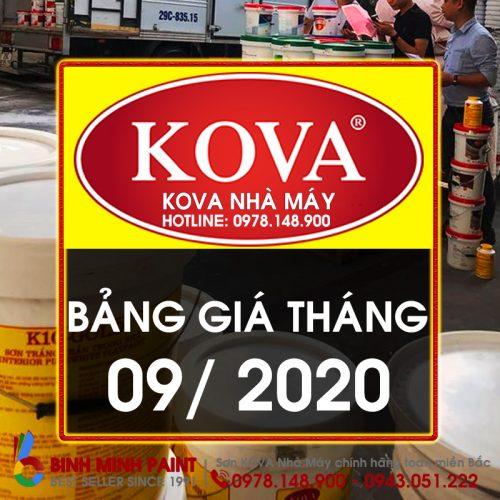 Bảng Báo Giá Sơn KOVA Tháng 9 Năm 2020