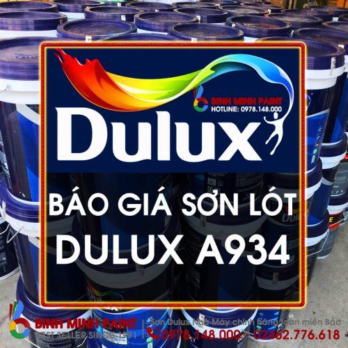 Báo Giá Sơn Lót Dulux A934 Mới Nhất Năm 2020 Bình Minh Hà Nội