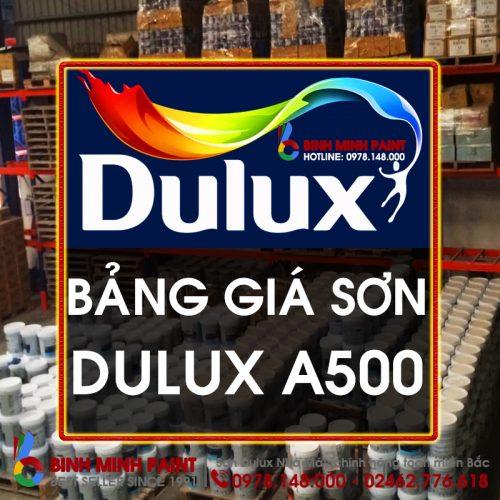 Báo Giá Sơn Dulux A500 Mới Nhất Hiện Nay Bình Minh Hà Nội
