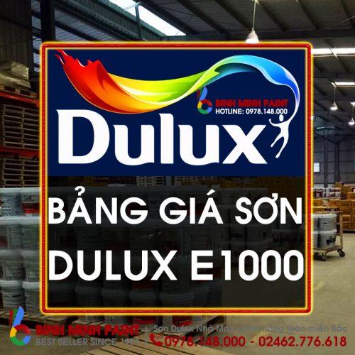 Báo Giá Sơn Dulux E1000 Mới Nhất Hiện Nay Bình Minh Hà Nội