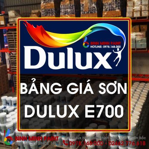 Giá Sơn Dulux E700 Mới Nhất Bình Minh Hà Nội