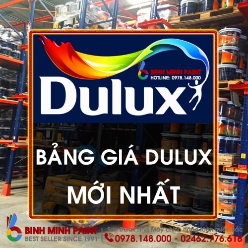 Bảng Báo Giá Sơn Dulux Mới Nhất Năm 2020, 2021 Bình Minh Hà Nội