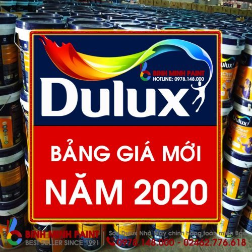 Bảng giá sơn Dulux mới nhất năm 2020 Bình Minh Hà Nội