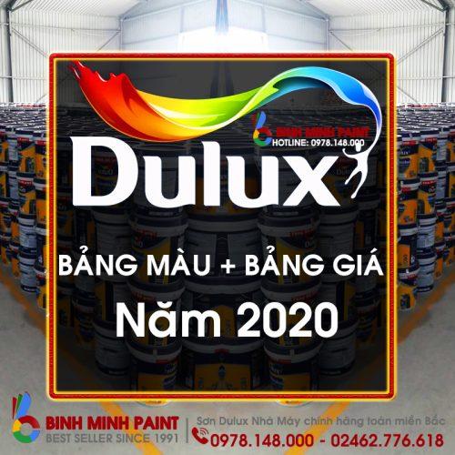 Bảng Màu + Bảng Giá Sơn Dulux Mới Nhất Năm 2020 Bình Minh Hà Nội
