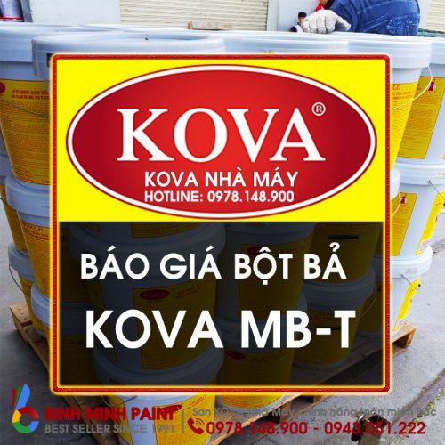 Báo Giá Bột Bả KOVA Trong Nhà Mới Nhất Năm 2020