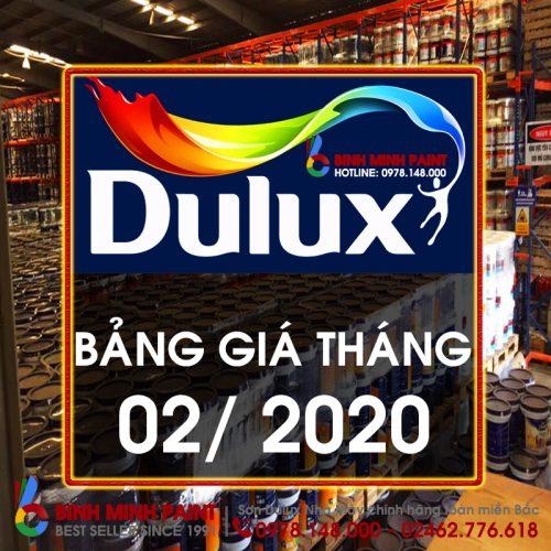 Bảng Báo Giá Sơn Dulux Tháng 2 Năm 2020 Bình Minh Hà Nội
