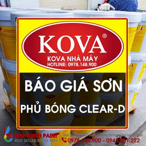 Báo Giá Phủ Bóng KOVA Clear-D Mới Nhất Năm 2020