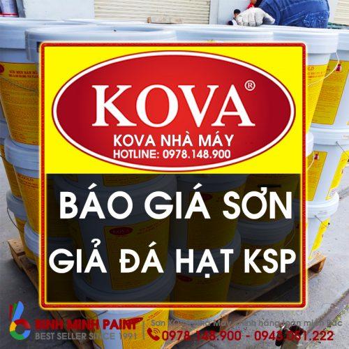 Báo Giá Sơn Giả Đá KOVA KSP Mới Nhất Năm 2020