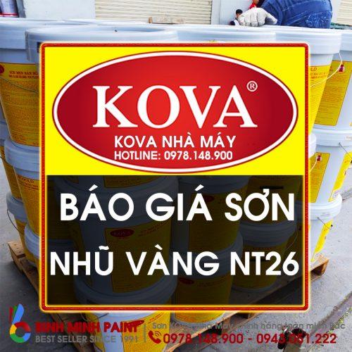 Báo Giá Sơn Nhũ Vàng KOVA NT26 Mới Nhất Năm 2020