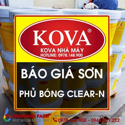 Báo Giá Phủ Bóng KOVA Clear-N Mới Nhất Năm 2020